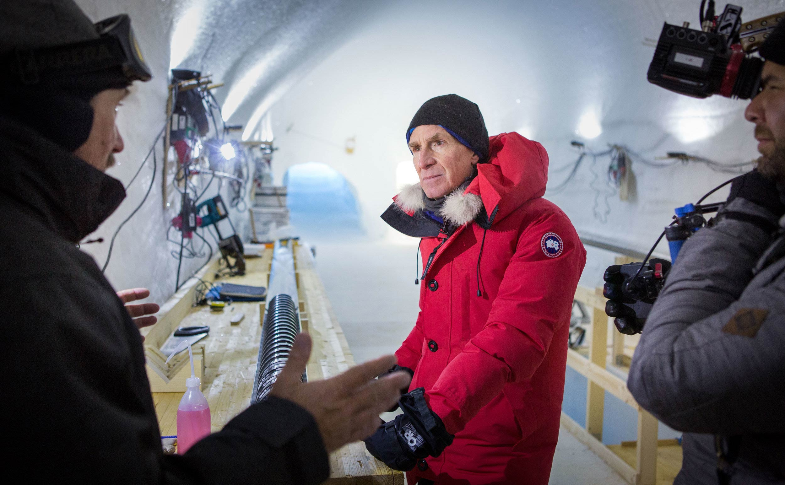 Bill Nye ice research lab