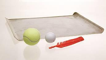 tennis ball golf ball feather tray