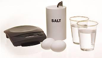 salt eggs water scale